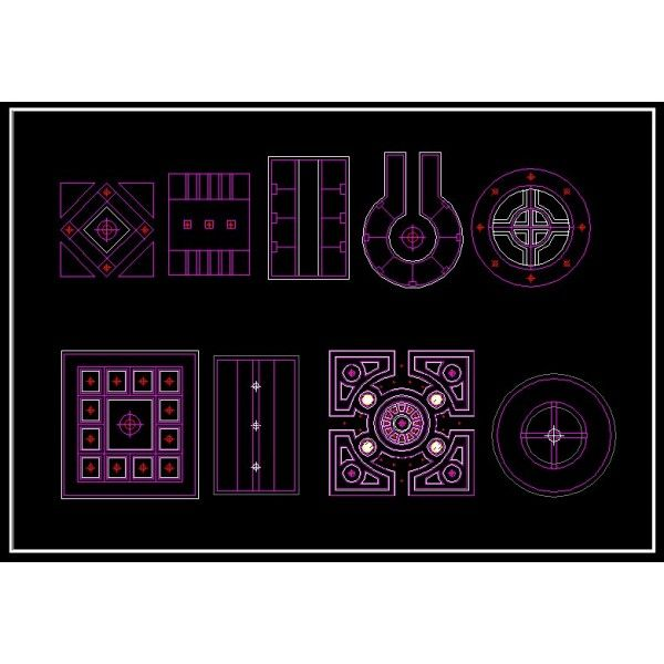 False Ceiling Autocad Drawings Free Download