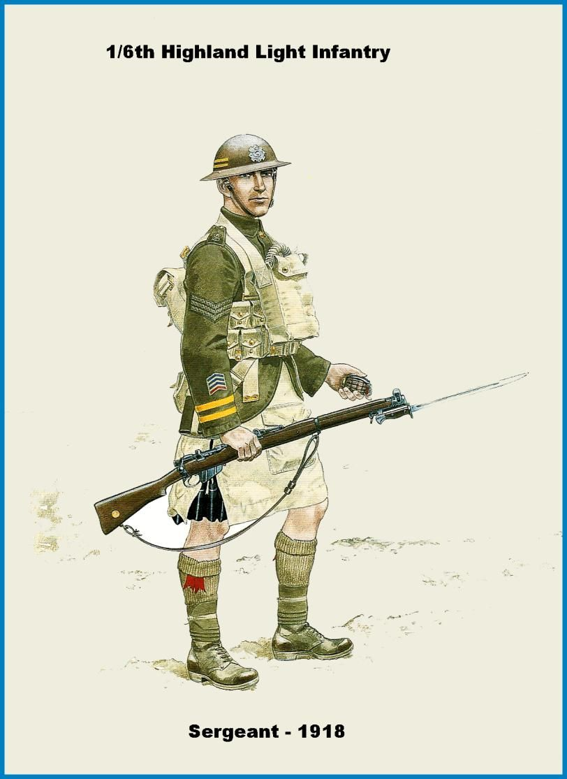 British; Highland Light Infantry, 1/6th Battalion, Sergeant 1918