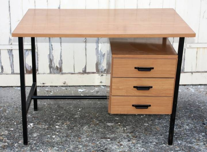 bureau formica et metal vintage