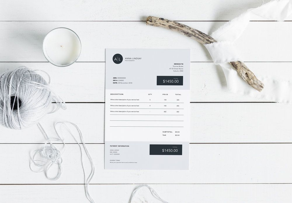 Invoice Template Modern Etsy Invoice Template Invoice Design Printable Invoice