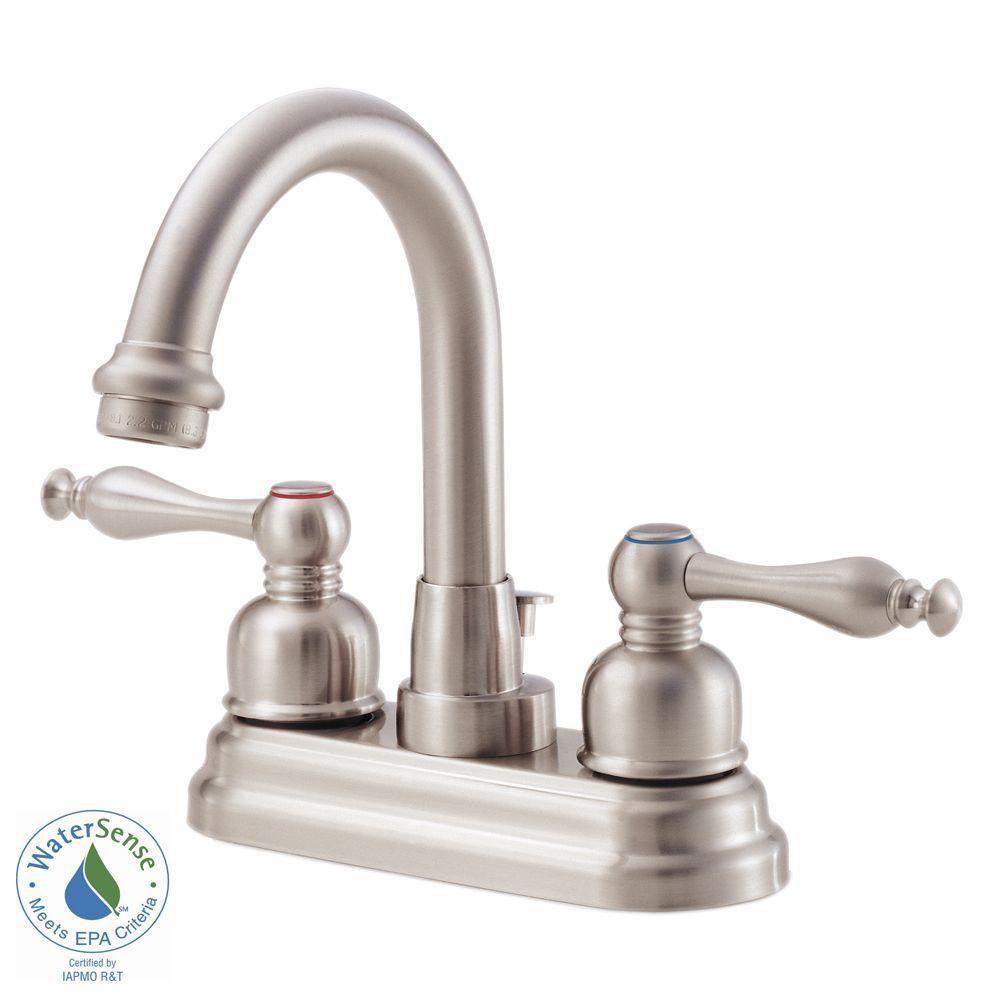 Danze Sheridan 4 In 2 Handle Bathroom Faucet In Brushed Nickel