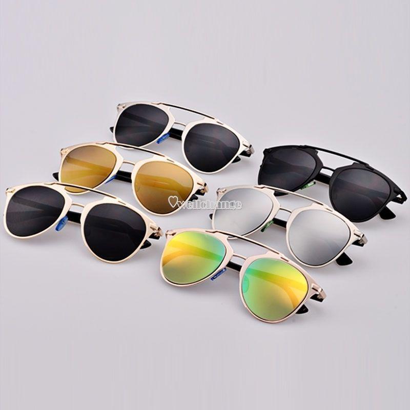 7bf27bb4049 Hot Fashion Retro Women Lady Dual Horizontal Beam Full Frame Sunglasses W3Le
