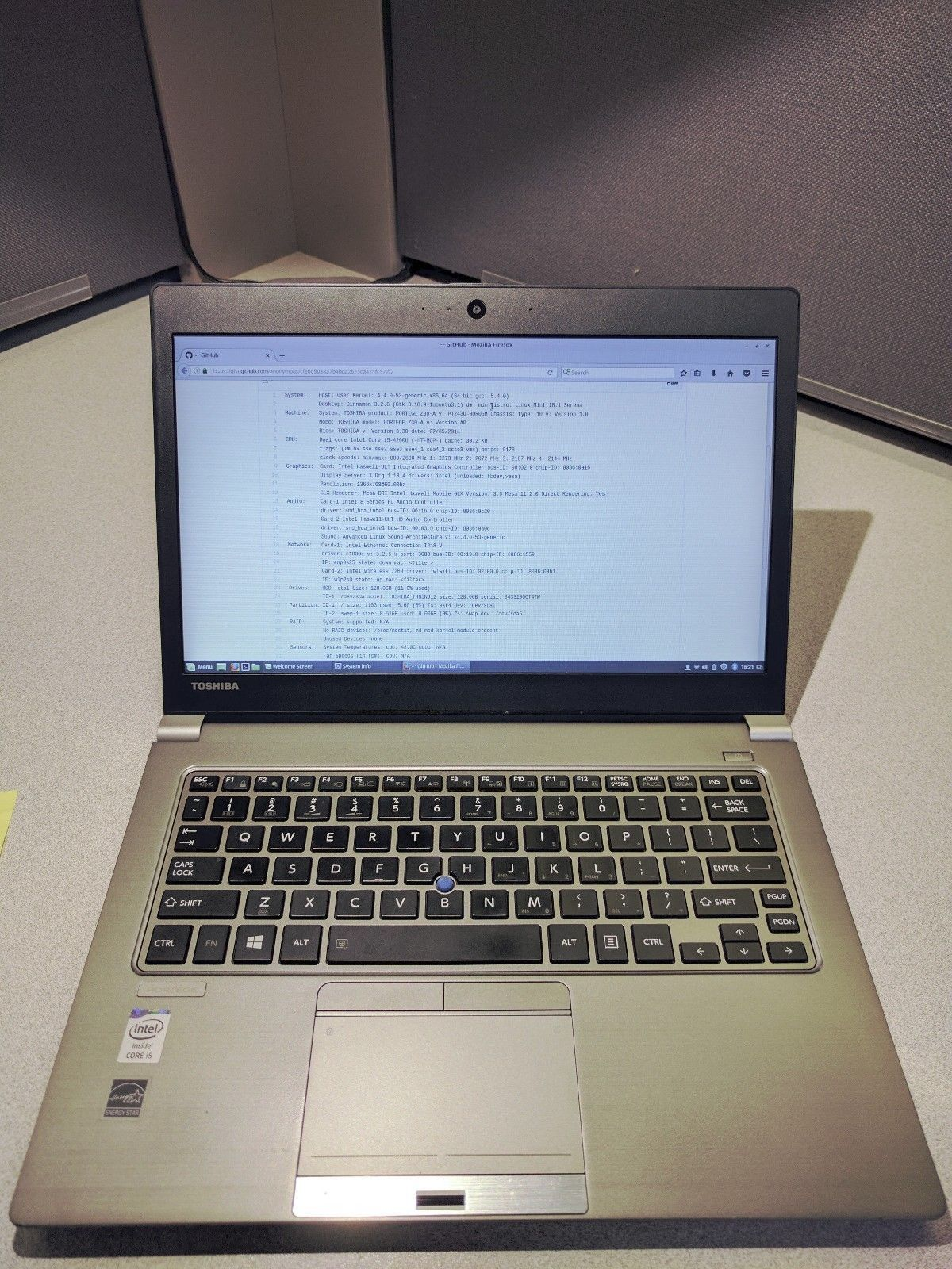 TOSHIBA PORTEGE Z30-A 13 3 i5-4200U 1 60GHz 8GB 128GB SSD