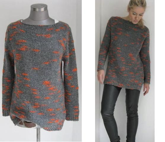 GROBSTRICK BOYFRIEND PULLI BEIGE MARSALA TWEED von secret-of-style auf DaWanda.com