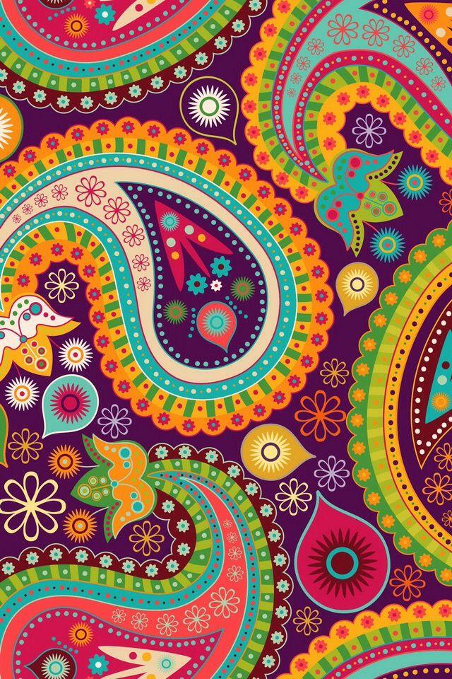 Pingl par th r se selliere sur paisleys pinterest - Couleur cachemire peinture ...