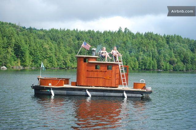 Amazing Sauna Boat In Adirondacks In Saranac Lake Saranac Lake Lake George Lake