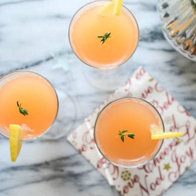 Ruby Thyme Spritzer Christmas Cocktail Recipe