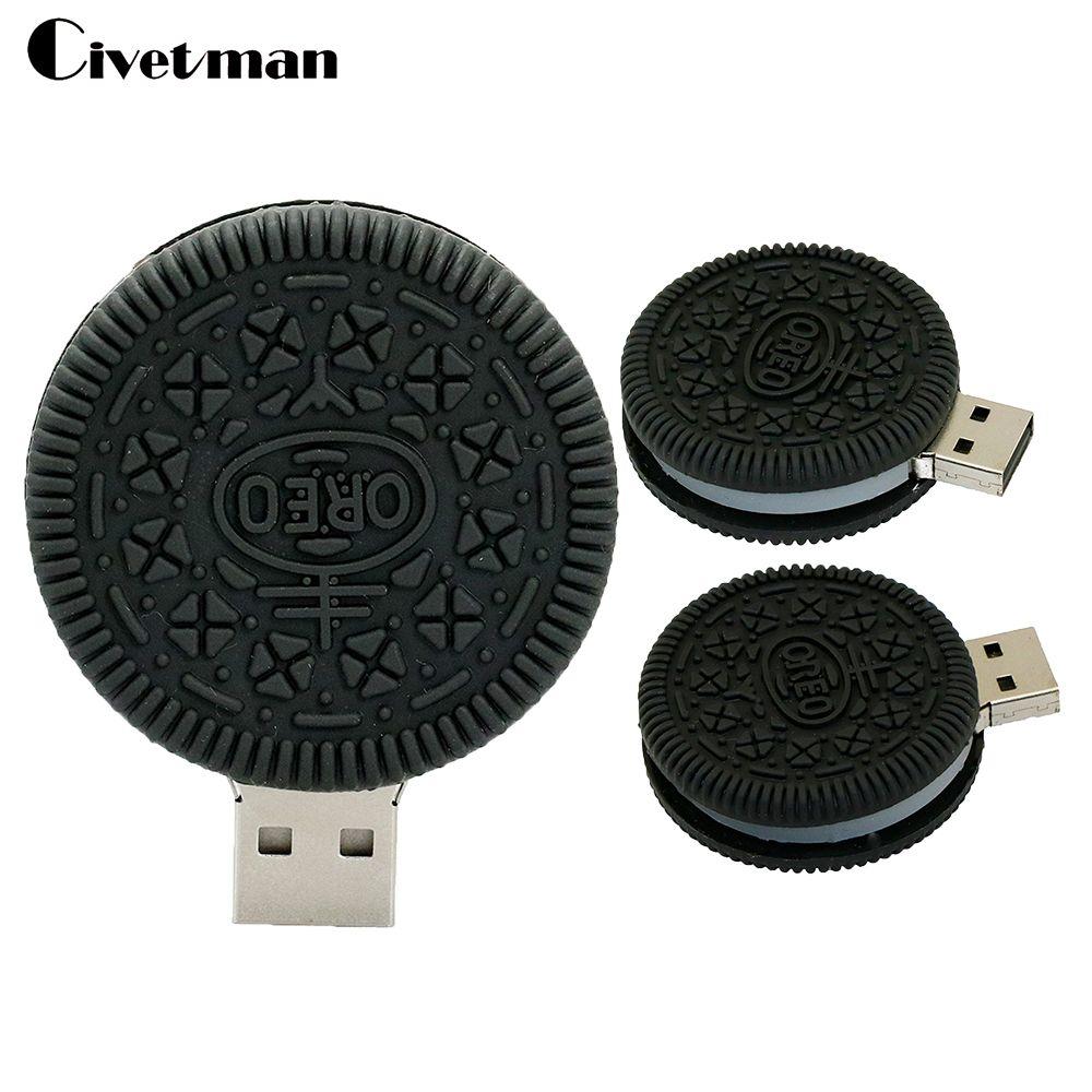 81d6cd521bb Cute Oreo pen drive 4GB Food usb stick 8GB biscuits usb flash drive 16GB