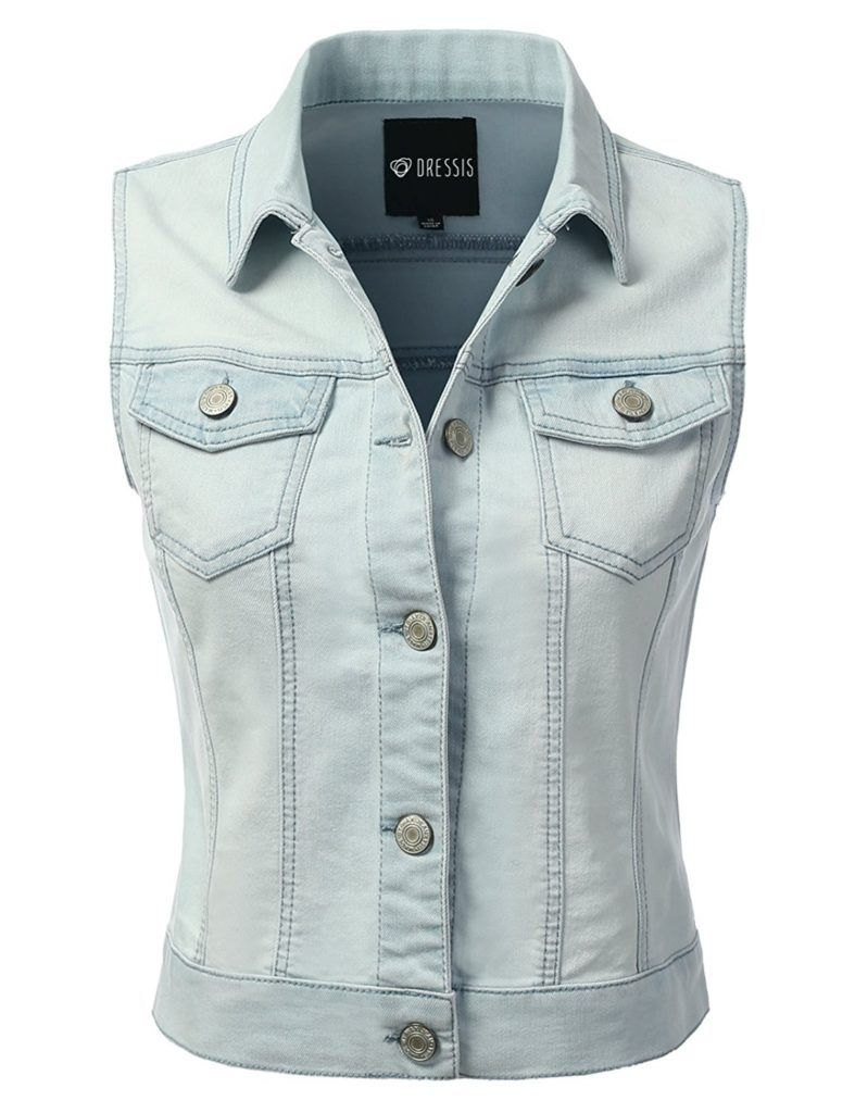 Dressis Womens Casual Sleeveless Denim Jean Cropped Vest Jacket Shop2online Best Woman S Fashion Products Designed To Provide Sleeveless Jean Jackets Cropped Vest Denim Jacket Women [ 1024 x 787 Pixel ]