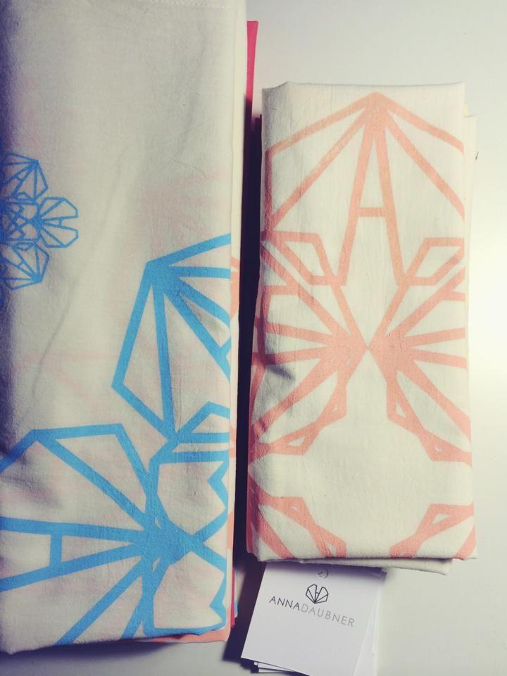 Anna Daubner scarves - geometric pattern