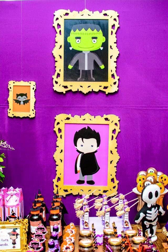 Minha Enteada escolheu o tema Halloween, ela escolheu o tema no dia em que comemoramos o aniversário dela de 5 anos rs Ameeeei a criatividade!!!