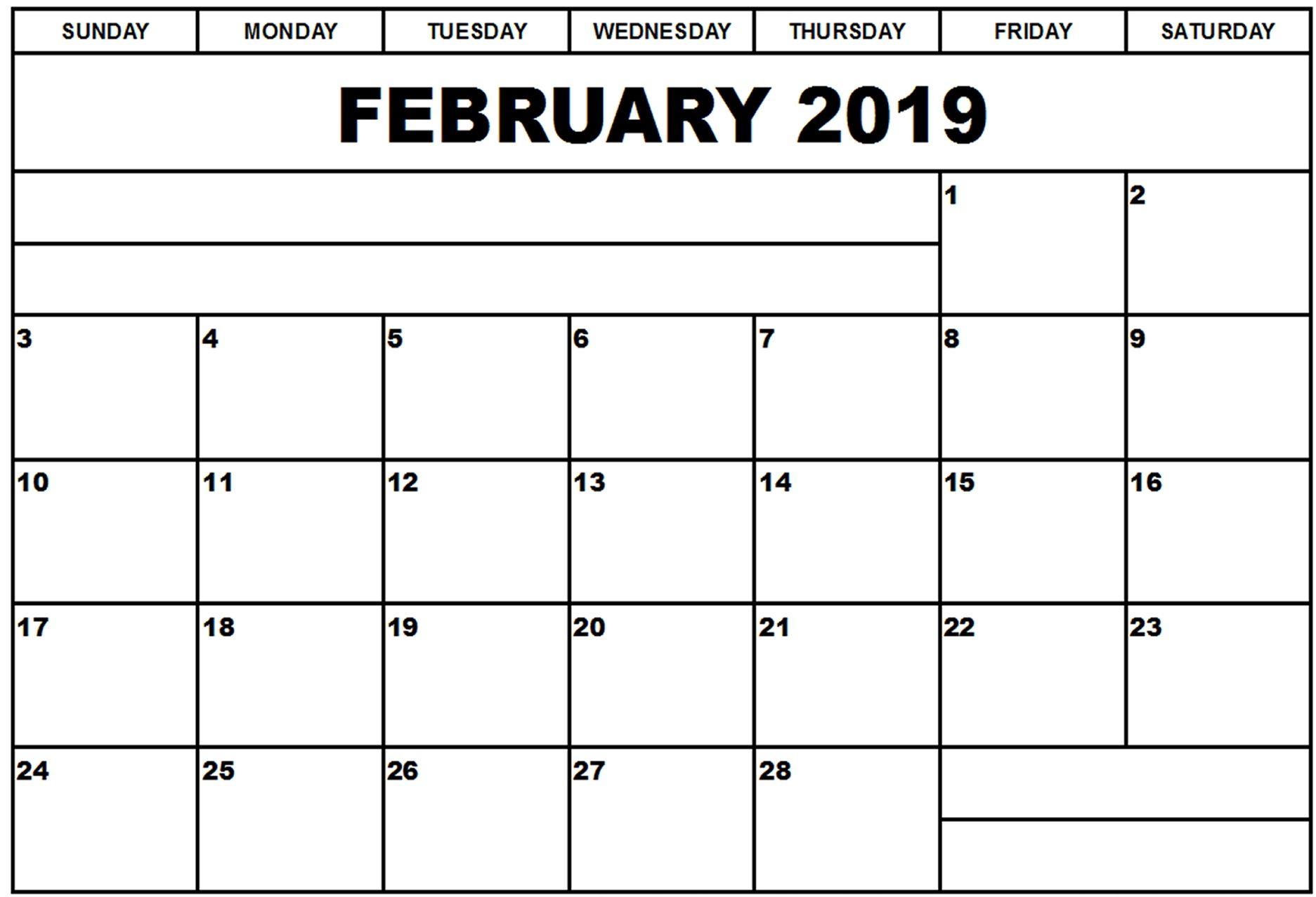 February 2019 Calendar For Word February 2019 Calendar Word #Feb #February #februaryCalendar2019