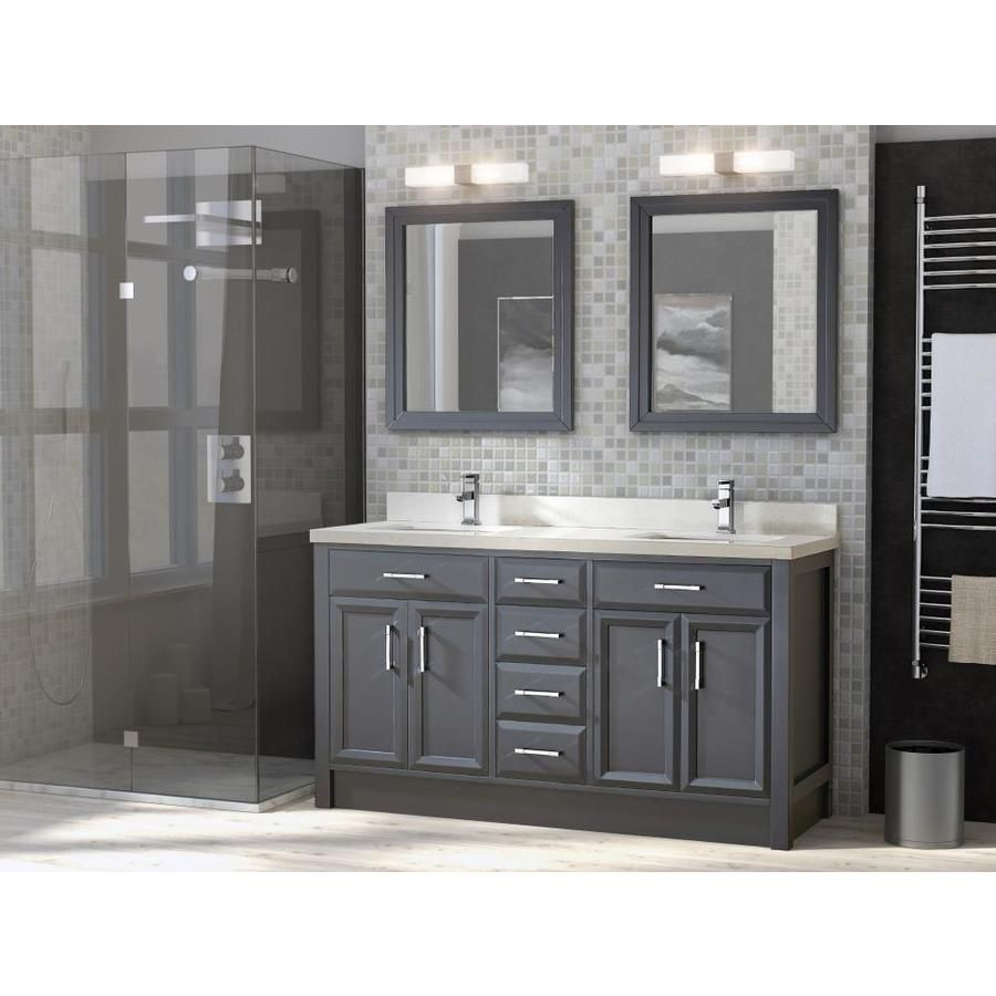 Spa Bathe Calumet 63 In Pepper Gray Double Sink Bathroom Vanity