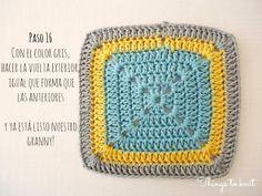 Simple Square de ganchillo - Photo Tutorial (en Español) <3