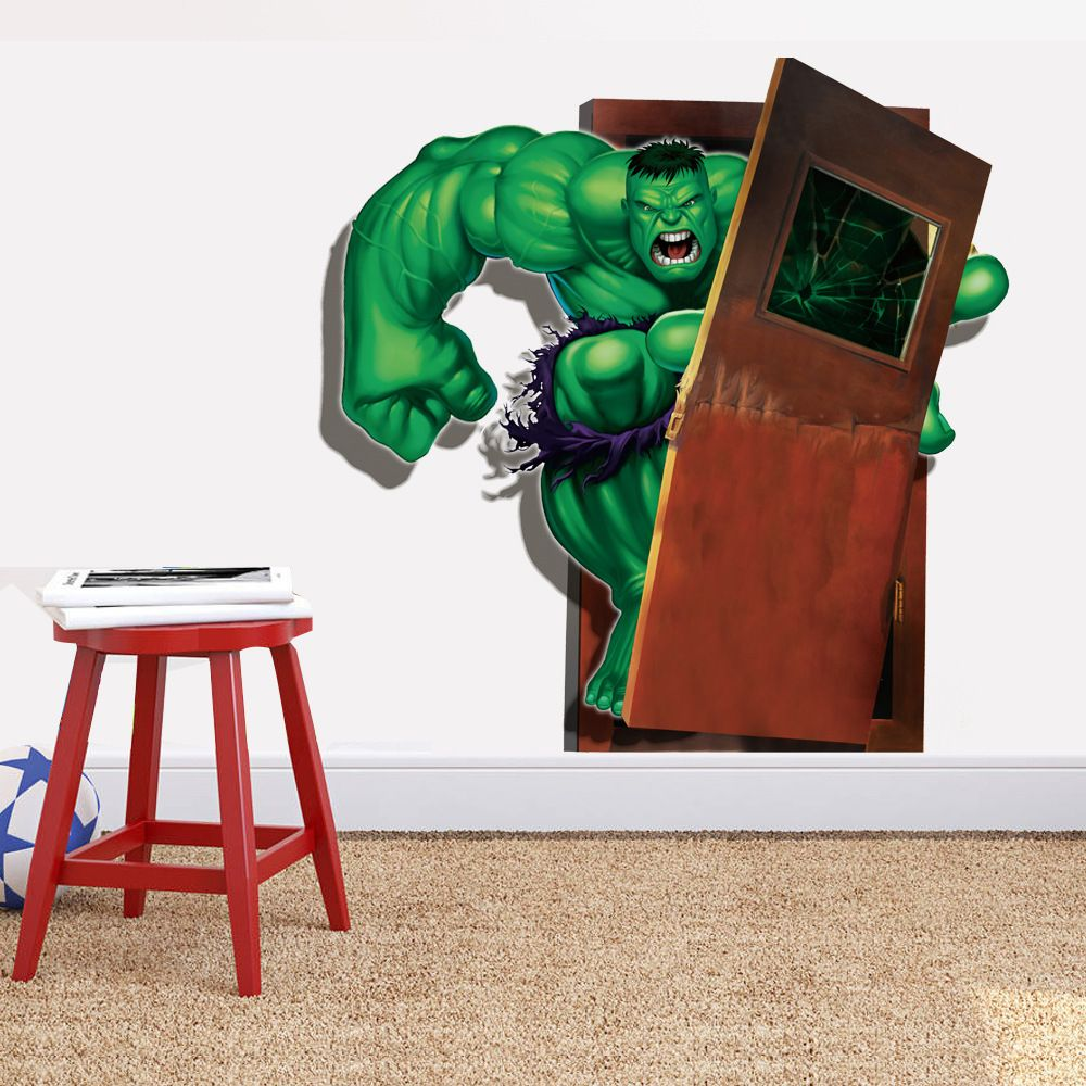 Latest 3d super hero font b marvel b font party decoration font b new hulk background wall stickers home decoration diy home accessories living wall marvel movie mural art decorative vinyl amipublicfo Images