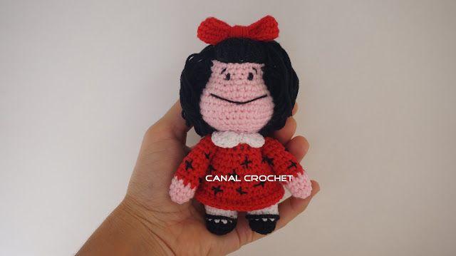 Amigurumi Doll Free Pattern : Canal crochet mafalda amigurumi tutorial amigurumi