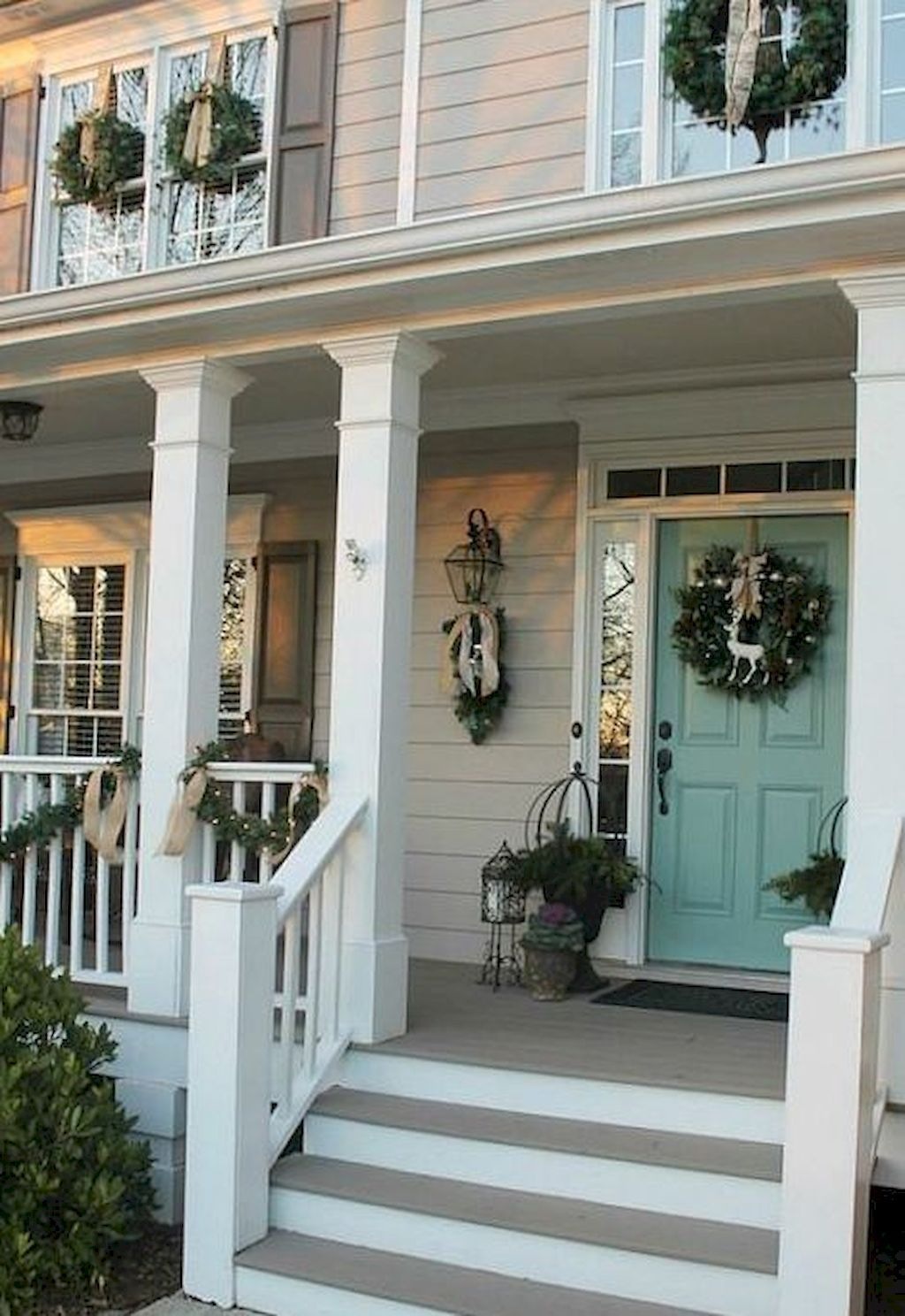 Nice 70 Rustic Farmhouse Porch Steps Decor Ideas Wholiving
