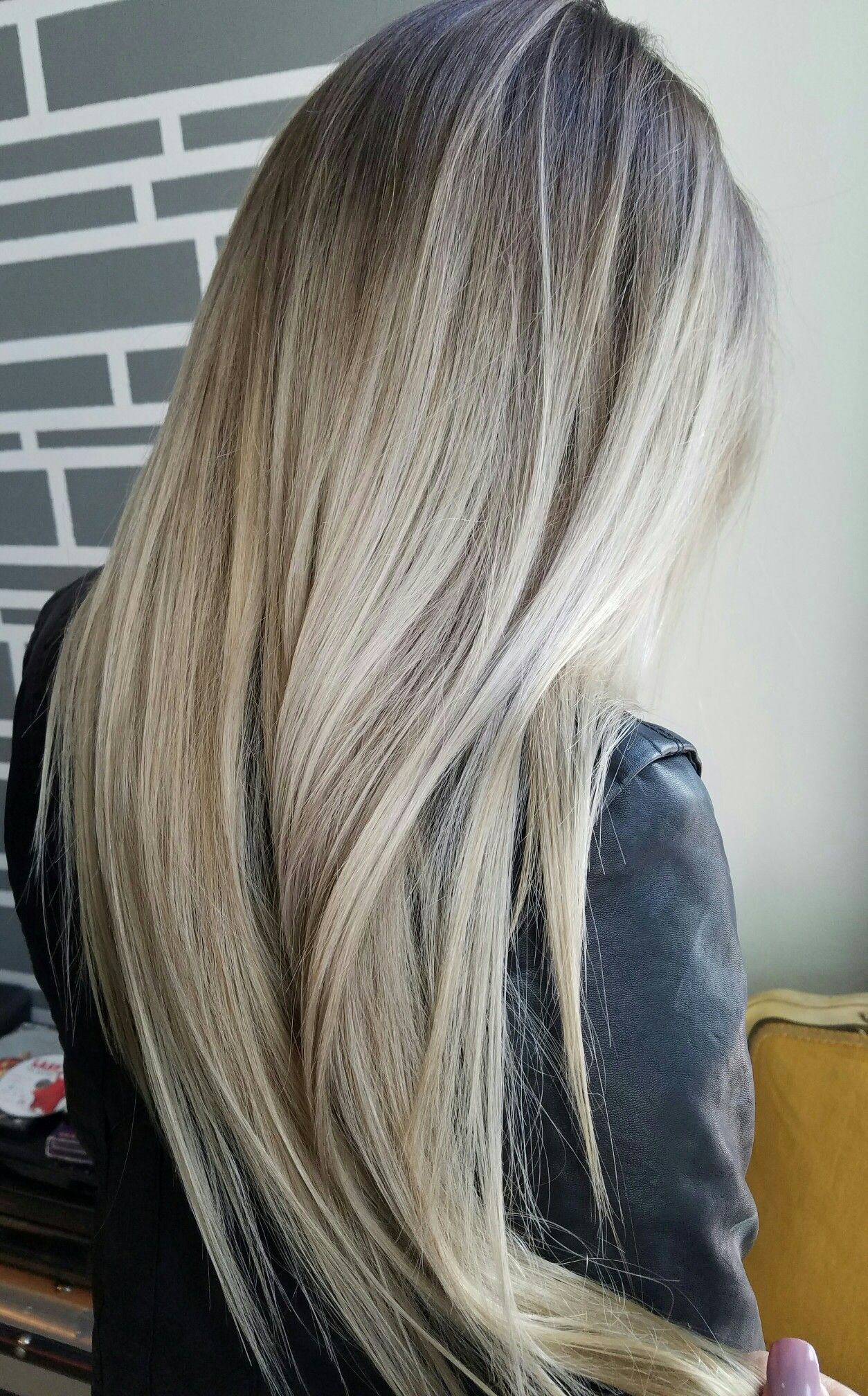 Rooty Blonde Blonde Balayage On Long Hair