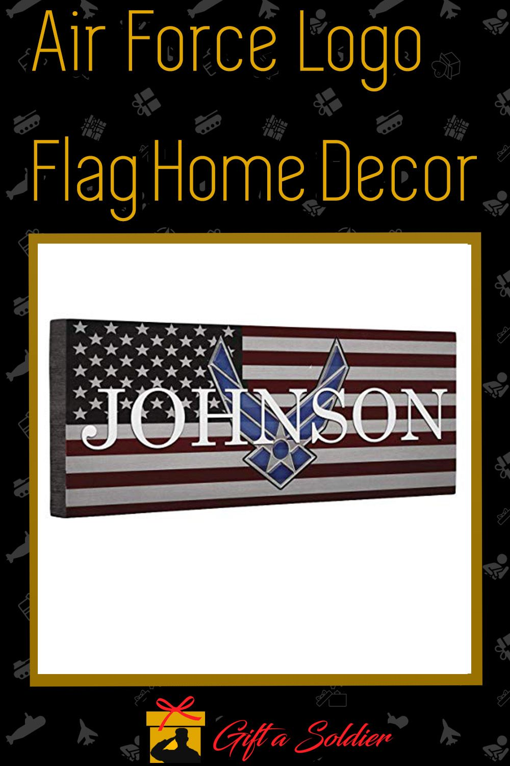 Air Force Logo Flag Home Decor in 2020 Military gifts