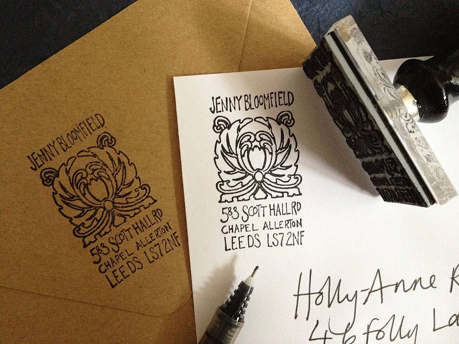 Personalised Nouveau Address Stamp  by Bloomfield & Rolfe