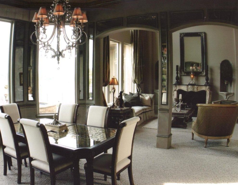 Dining Room Walls With Inset Antique Mirror Wall Panels Add A Classy Mirror In The Dining Room Inspiration Design