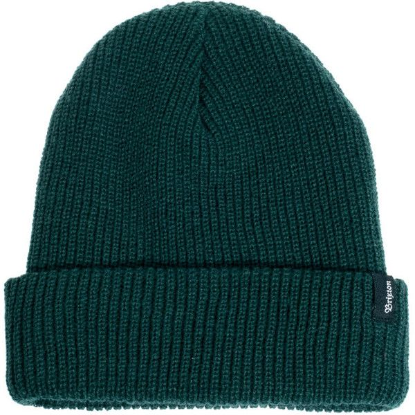 c65833eb135ae Brixton Heist Beanie (€19) ❤ liked on Polyvore featuring men s fashion