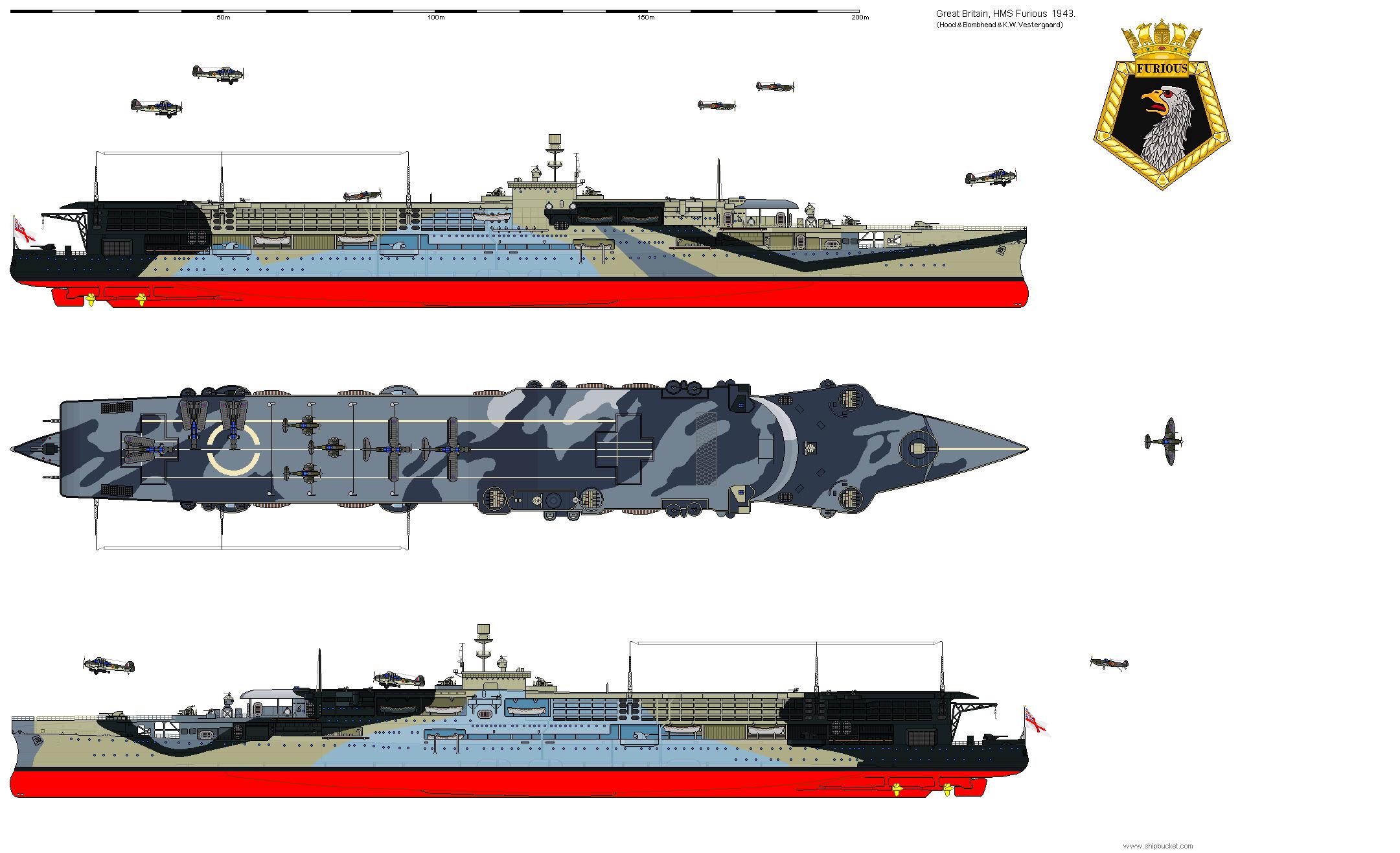 Real Designs Great Britain Cv 47 Furious 1943 Png Royal Navy Ships Royal Navy Aircraft Carriers Navy Carriers