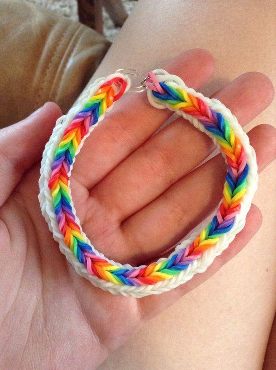 Double Cross Fishtail Rainbow Loom Bracelet by ...