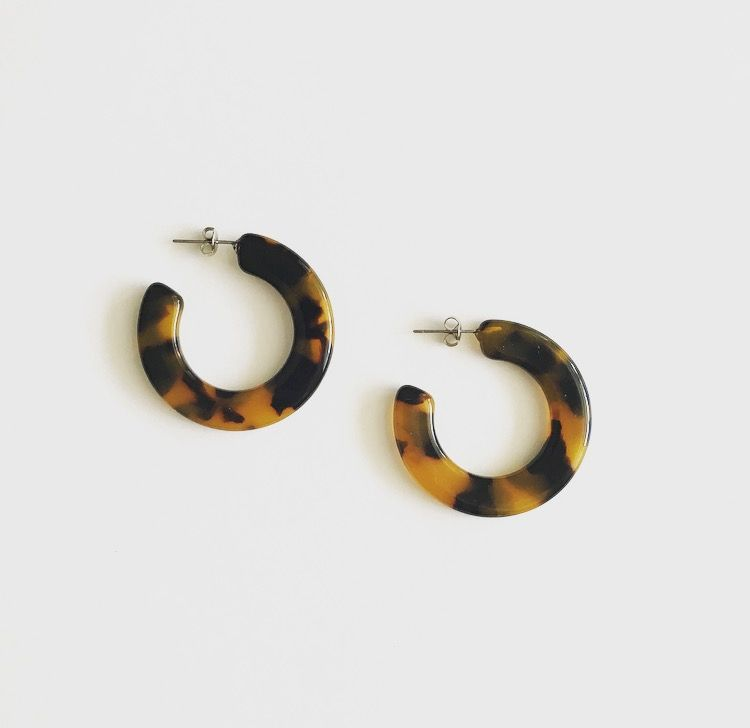 New Kate Hoops By Machete Available In Blonde Tortoise
