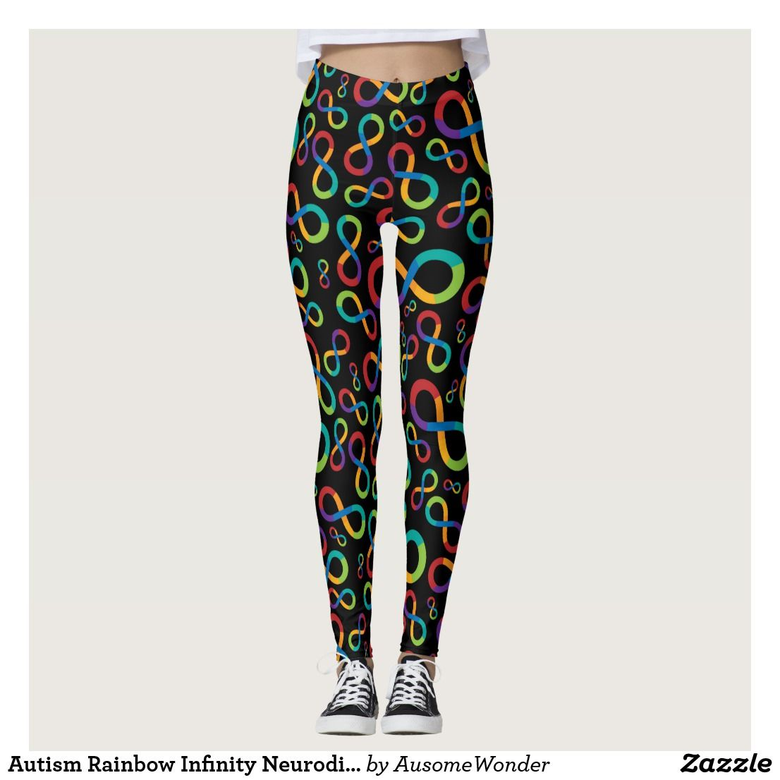 Autism Rainbow Infinity Neurodiversity Leggings Autism Awareness