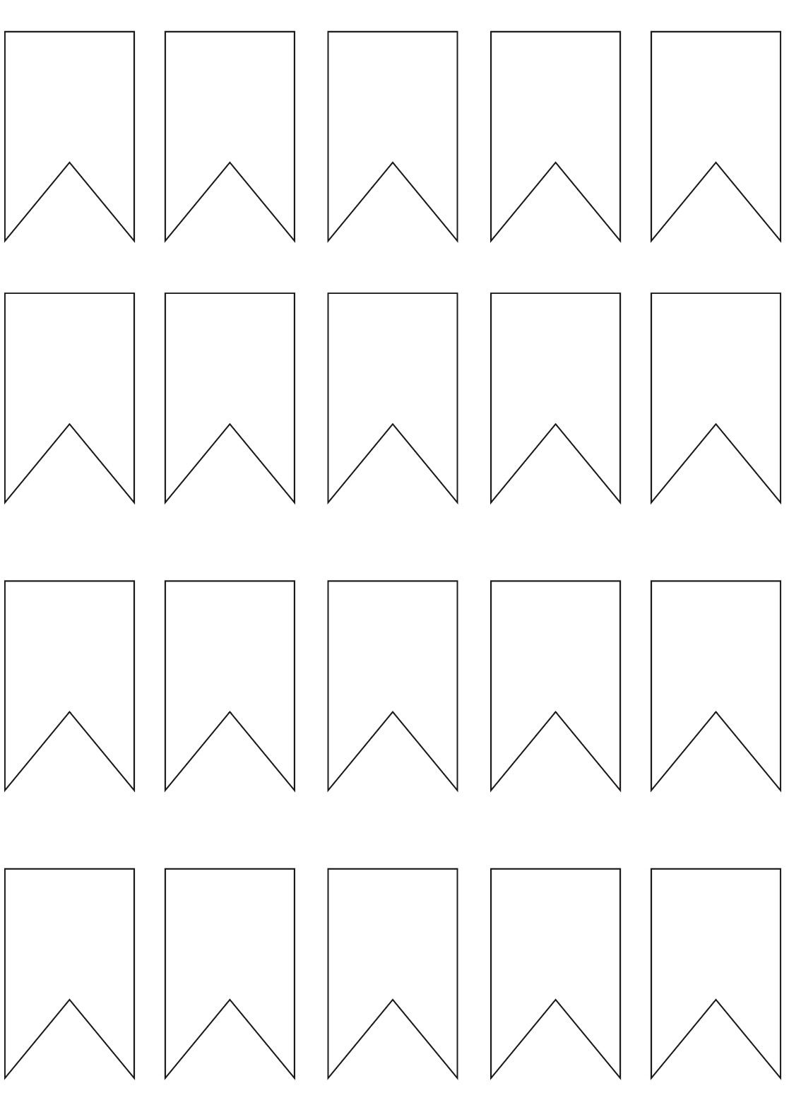 14++ Paper bunting banner template trends