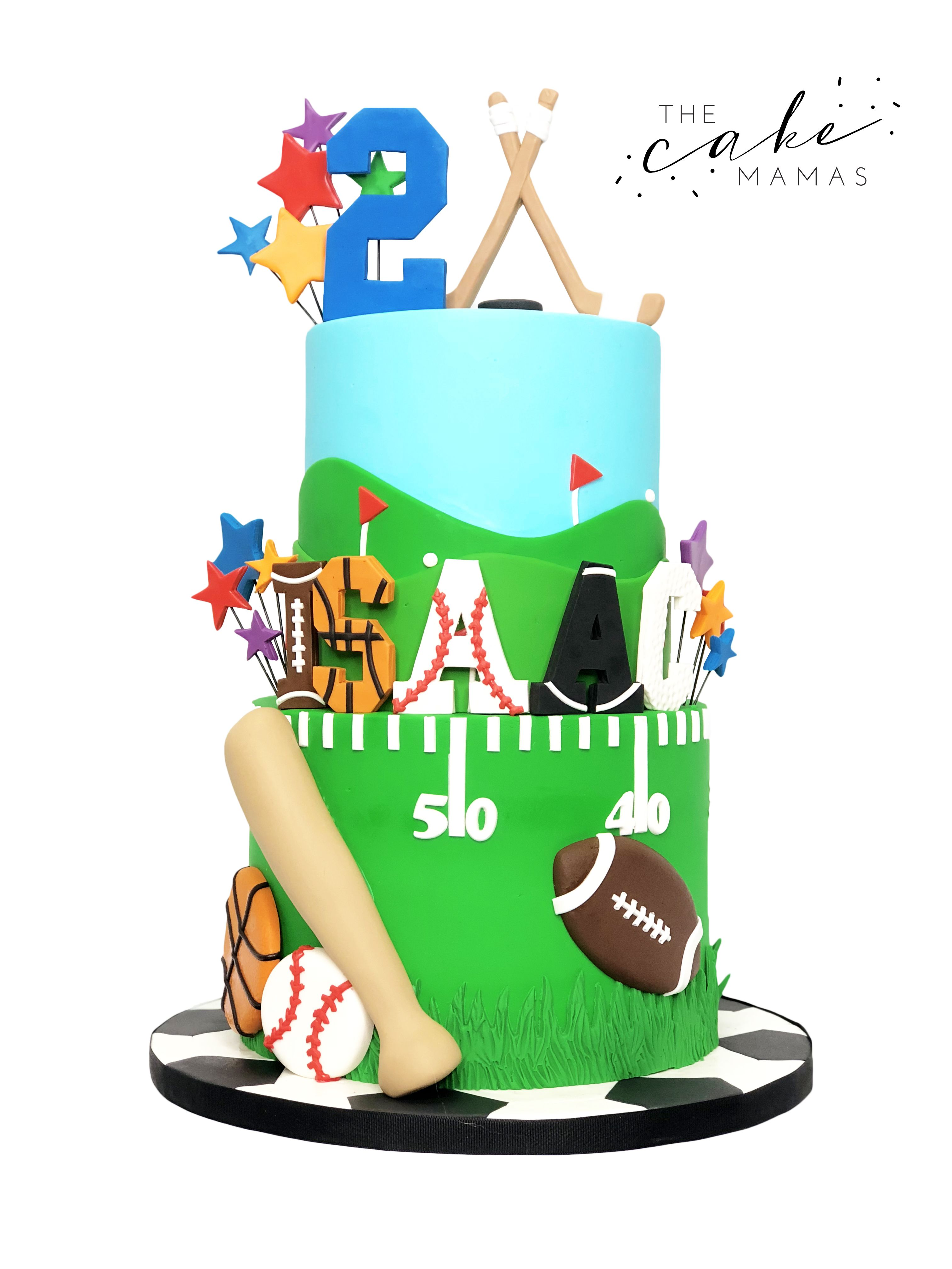 All Star Sports Themed Birthday Cake Call Or Email To Order Your