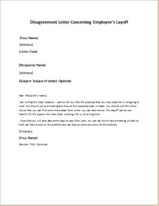 Disagreement Letter Concerning Employee S Layoff Download At Http Writeletter2 Com Disagreement Letter Concerning Employees Lay Lettering Disagreement Layoff