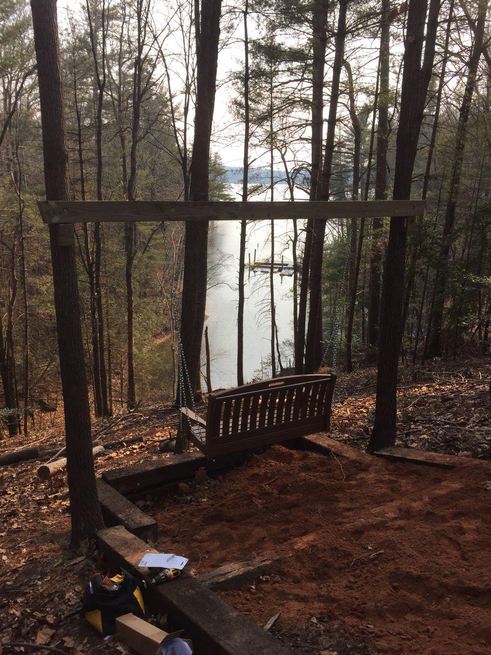 Swing Between Two Trees Wisconsin Landscaping Ideas Outdoor Swing Diy Porch Swing