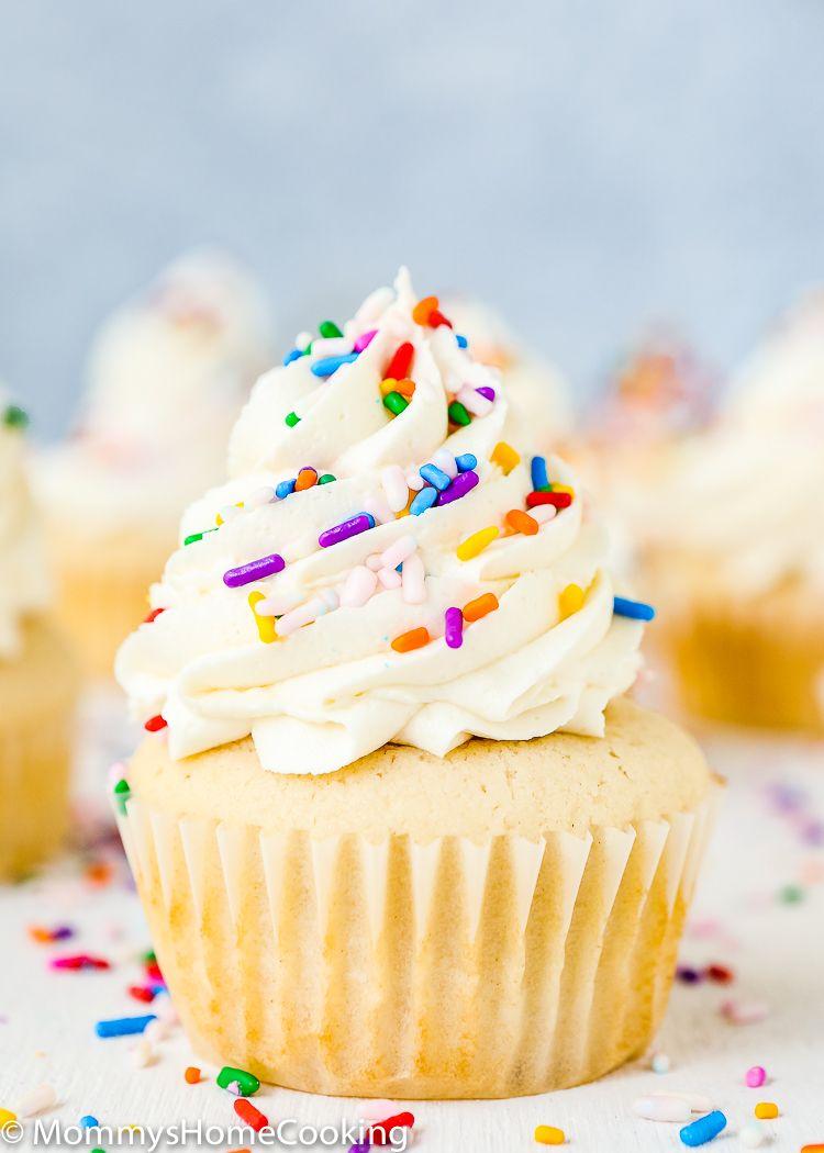 Eggless Vanilla Cupcakes | Recipe | Eggless vanilla ...