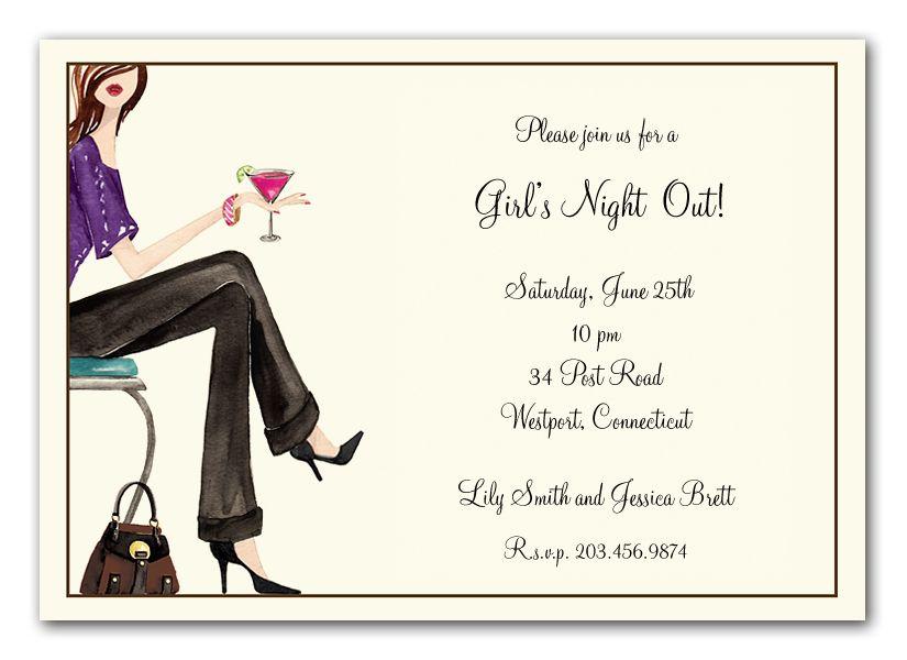 Girls Night Invitation Wording Girls Night Out Invitation Wording