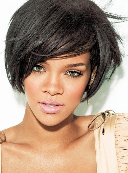 Rihanna Short Straight Boy Cut Hairstyle Capless Synthetic