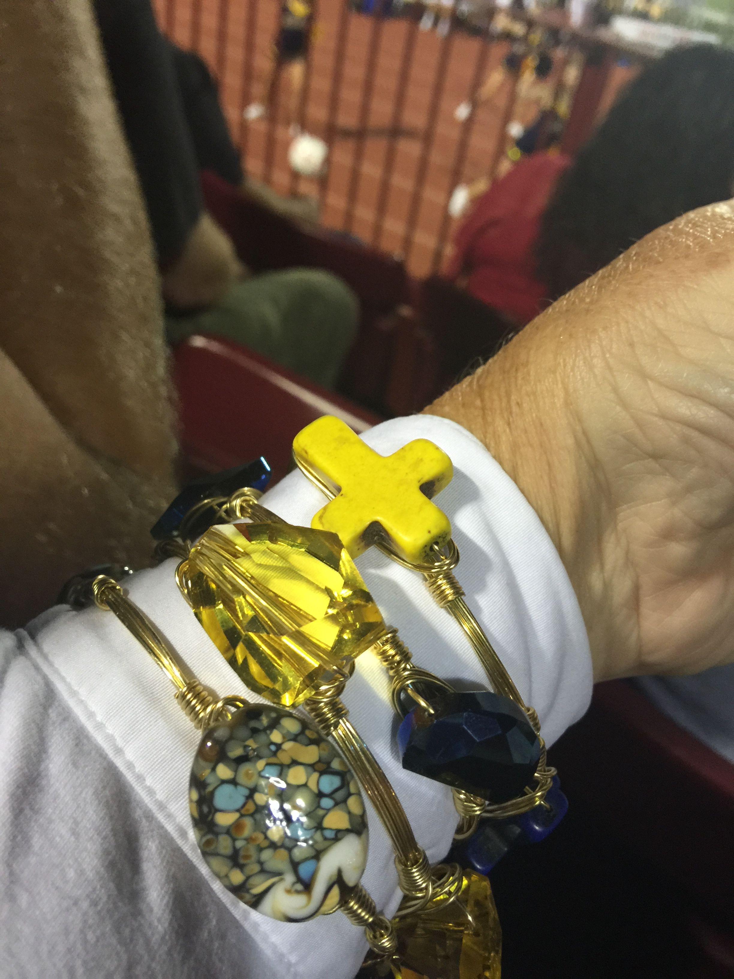 My East Tennessee State University bracelets!  Go BUCS!