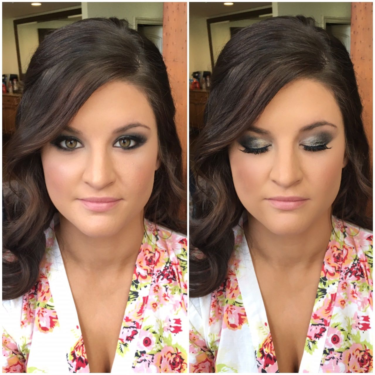amandaraebeauty; wedding makeup; bridal makeup; before and