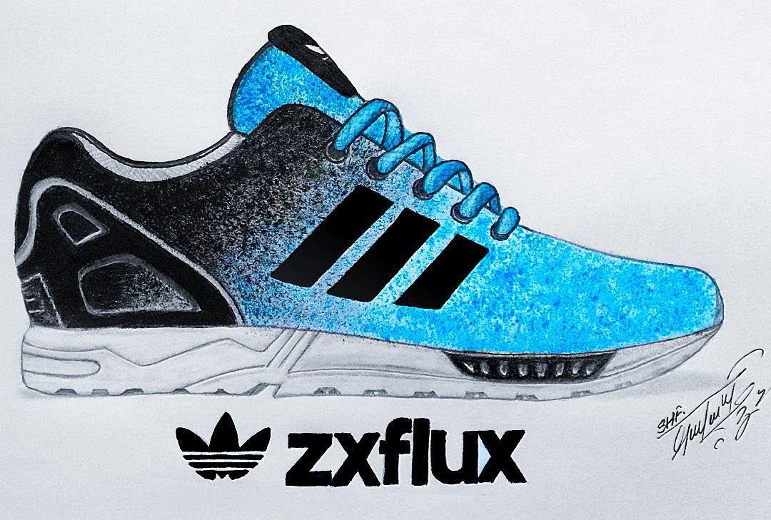 Adidas scarpa disegno matita acryl (http: / /
