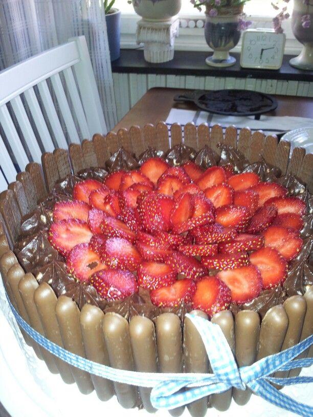 Choklad dröm med jordgubbar.