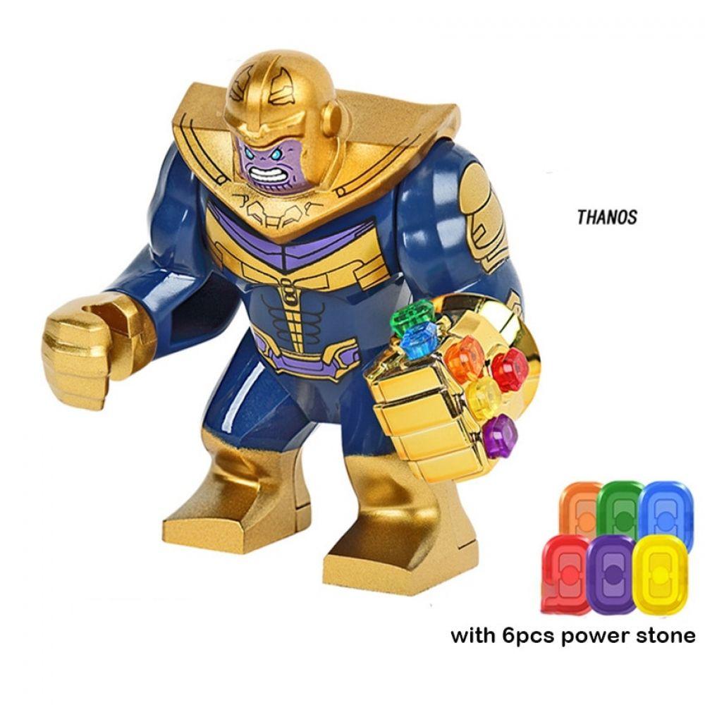 Chrome Gold Marvel Thanos Lego Moc Minifigure Toys Gift Infinity Gauntlet