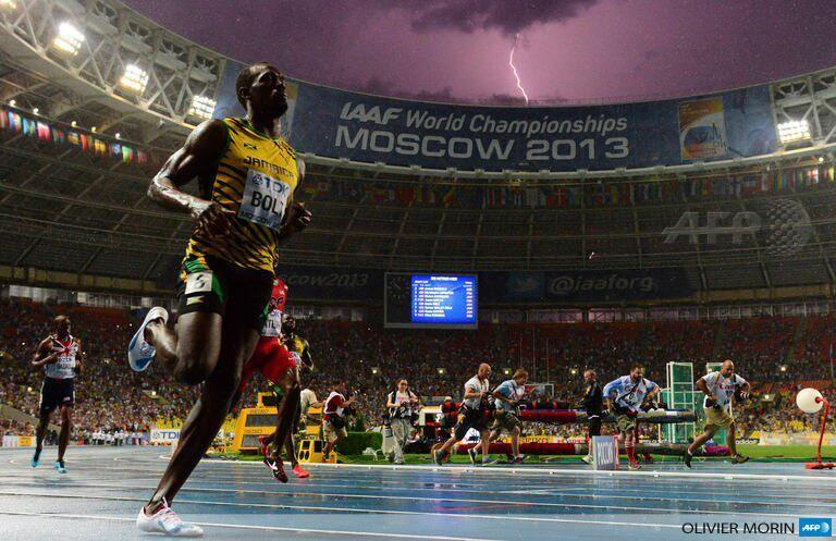 Bolt strikes again. #Moscow2013