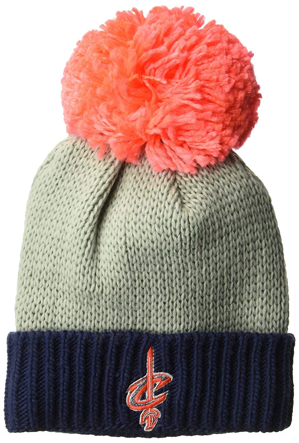 b68916eed41 NBA Cleveland Cavaliers Women s Cuffed Knit Hat with Neon Pom