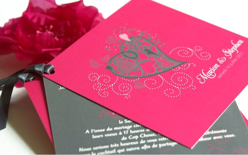 1000 images about faire part mariage on pinterest purple wedding invitations belly bands and grey - Faire Part Mariage Fushia