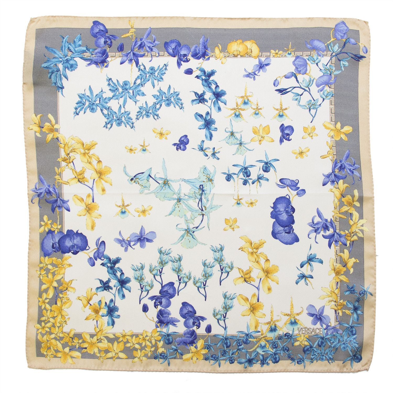 Multiprint Versace silk scarf Size: 17x17 Material: 100% silk ...