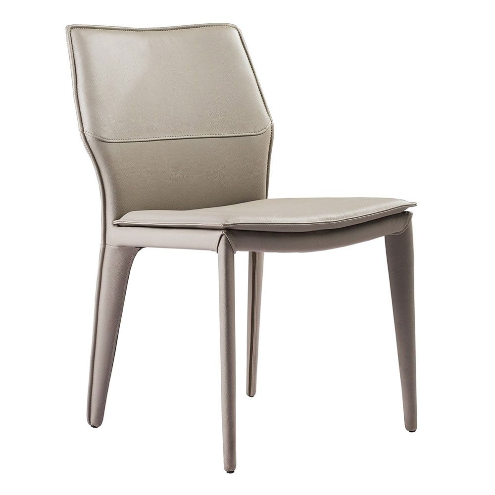 Miranda Dining Chair Light Gray Set Of 2 Dining Chairs