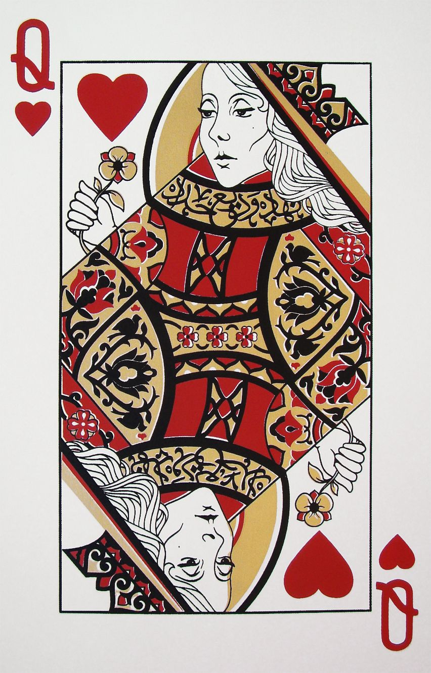 Fairouz queen playing card limited edition screen prints