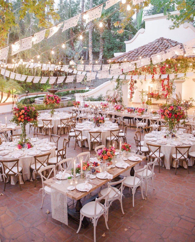 Wedding Altar Dance: Hacienda Wedding Papel Picado Banners