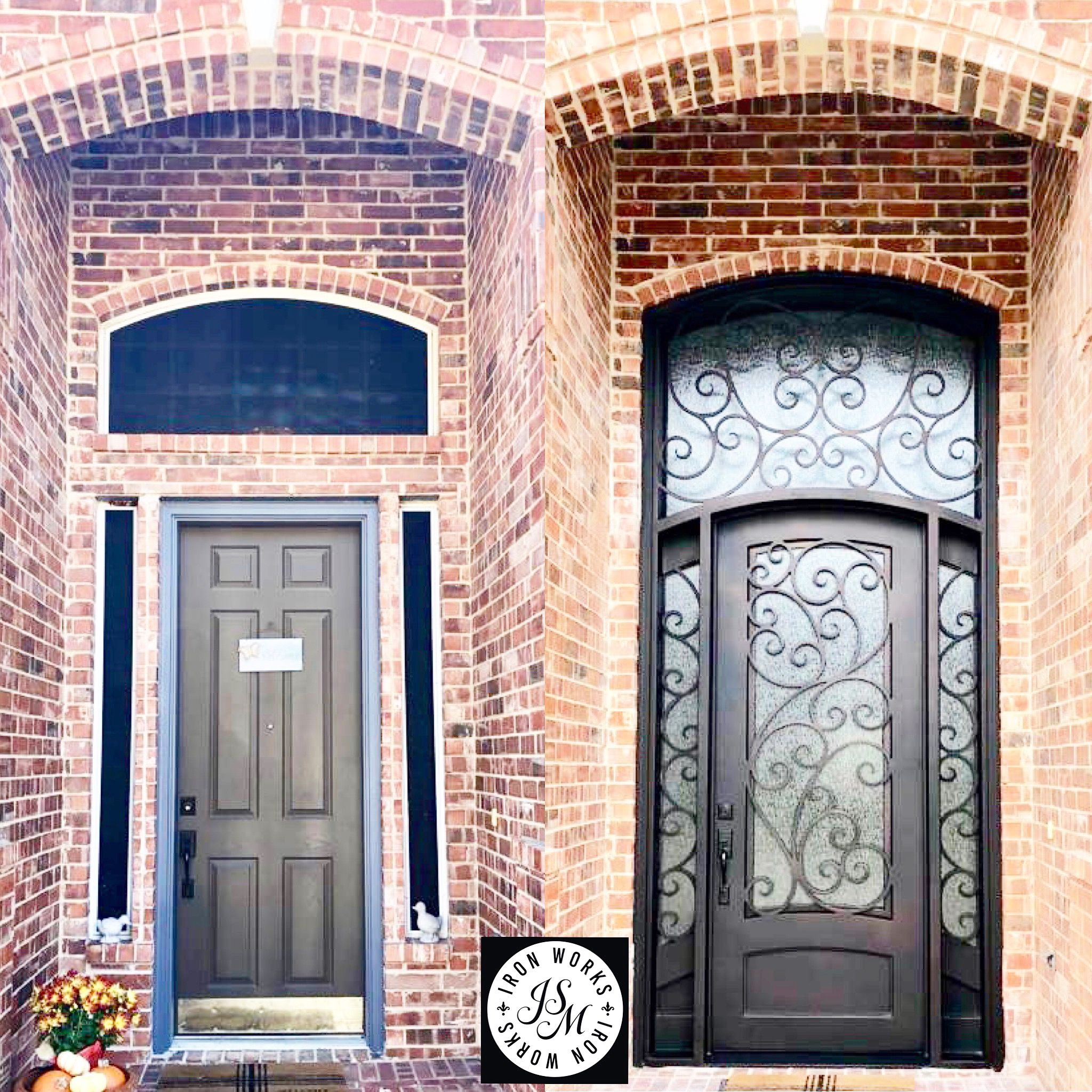Just Installed Before After Beautiful Wrought Iron Door Call Us